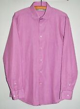 """FRENCH CONNECTION - L/S Pink/White Stripe Shirt - 15.5"""" - Excellent Condition"""
