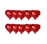 ★RM★ 10x Mini Folienballon Antrag Helium Ballon Herz Liebe Rot Gold 25cm ★RM★
