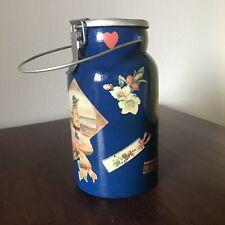 Bidoncino Latte Lattiera Contenitore In Alluminio Vintage Personalizzato