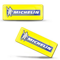 2 x 3D Silikon Aufkleber Michelin Reifen Gummi Tires Logo Emblem Abzeichen