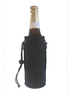 Isolierhülle Flaschenkühler Flaschenhuelle Neopren 0,5 Liter schwarz