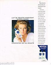 PUBLICITE ADVERTISING 055  1988  NIVEA VISAGE   cosmétiques lait hydratant