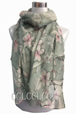 Heart Scarf Love Classic Feather Flower Scarf Sarong Women Wrap Gift UK