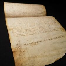 "1391 MANUSCRIPT Vellum NORTH ITALY Land Document ""10 Florins"" DECORATIVE NOTARY"