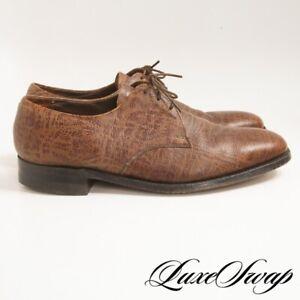 #1 MENSWEAR Vintage Florsheim Imperial 79167 Brown Kudu Antelope Shoes 9.5 E NR