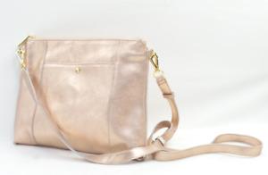 G.I.L.I. Metallic Large Crossbody Bag Rose Gold