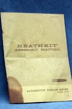 HEATHKIT AUTOMOTIVE TUNE-UP METER MODEL ID-29 ASSEMBLY MANUAL - FREE US SHIPPING