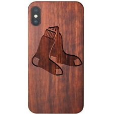 Boston Red Sox Apple iPhone X Case - Official MLB Baseball Shockproof Wood Cover