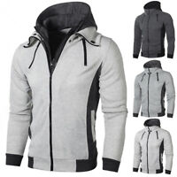 Men's Winter Hoodie Warm Hooded Sweatshirt Coat Jacket Outwear Sweater Tops