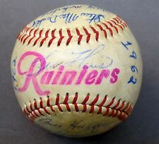 1962 SEATTLE RAINIERS PCL team signed autographed BASEBALL 22 Signatures
