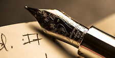 Montegrappa Alchemist 925 Solid Sterling Silver Fountain Pen M. ISAKN3AC. New