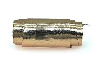 Metallic Elaphe Snake Skin Hide Leather Snakeskin Shoemaking Champagne