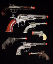 Vintage Toy Cap Guns Set of 7 for One Price Mostly Hubley