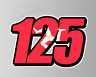 3 X Sets Racing Race Numbers with Isle of Man Flag - Vinyl Stickers Decals TT