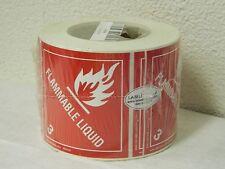 Labelmaster Flammable Liquid Label 100 mm x 100 mm 500 Count Roll HMSL60