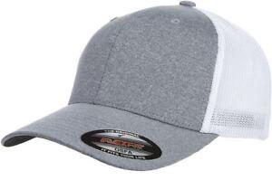6311 Flexfit Custom Hat Melange Mesh Lids Trucker Cap Mid Profile Fitted OSFM