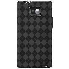 AMZER SMOKE GREY LUXE ARGYLE TPU SOFT SKIN CASE FOR SAMSUNG GALAXY S II SGH-I777