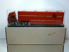 OLD CARS IVECO TRUCK + FERRARI RACING CAR TRANSPORTER - 1:43 - EXCELLENT IN BOX