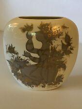 Vintage Rosenthal Samuramat Pillow Vase signed by Bjorn Wiinblad