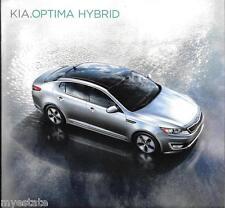 2011 11 KIA  Optima  Hybrid original sales  brochure MINT