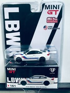1/64 MINI GT MIJO EXCLUSIVES LBWK WORK BMW M4 WHITE WITH M STRIPE LHD 1 OF 1800