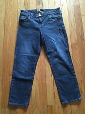KUT From The Kloth Dark Wash Bardot Skinny Boyfriend Cropped Jeans Size 6