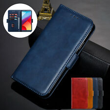 For LG G6 G7 ThinQ V30 Q6 Case Retro Magnetic Leather Flip Stand Wallet Cover