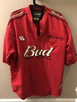 Dale Earnhardt Jr. Budweiser Red XL NASCAR Chase Authentics Drivers Line Shirt