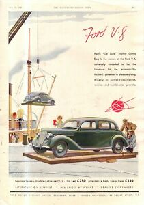 1936 Ford Touring Saloon Double Entrance ad - British - Foreign - Rare