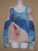 Womens Size Small Long Sleeve Fall Fashion Bold Patterned Blouse Top Shirt
