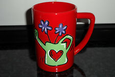 Wächtersbach Design Tasse Kaffeetasse Kaffeebecher Blumen Gießkanne rot Motiv