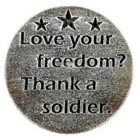"""Love freedom military mold plaster concrete resin craft mould 7.75"""" x 3/4"""" thick"""