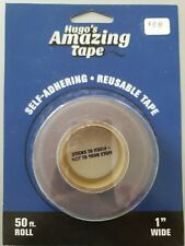 "Hugo's Amazing Tape 1"" x 50 ft roll self Adhering Reusable Tape"