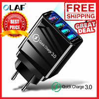 48W Fast Quick Charge QC 3.0 USB Wall Charger Adapter US Plug For Samsung/IPhone