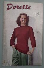 Vintage 1940s Dorette no 12 tejer patrones de costura chino Muñecas Originales De Libro