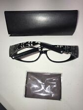 Vintage Fendi 130 Logo Print Cold Insert Sunglasses Frames Italy W/ Case & Wipe