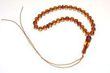 Genuine Baltic Amber 33 pcs Islamic Prayer Beads Round 8 mm Tasbih Misbaha 11g