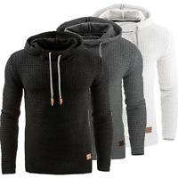 Mens Casual Hoodie Hooded Pullover Sweatshirt Jumper Sweater Jacket Coat Tops
