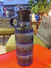 Große Mid Century Lava Vase 28,5cm / 60er Jahre Made in W. German Pottery