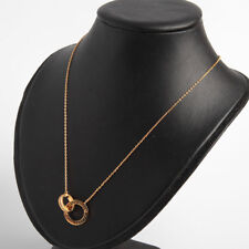 Michael Kors Crystal Pave Circle Necklace Gold Tone