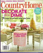 COUNTRY HOME MAGAZINE APRIL 2009