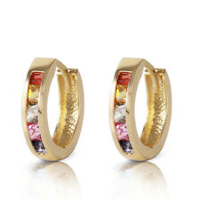 1.3 CTW 14K Solid Gold Fusion Sapphire Earrings