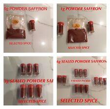 SAFFRON SPICE POWDER %100 NATURAL 0.5 to 6g, FULL REFUND IF NOT HAPPY, IMPORTER