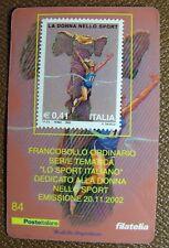 2002   Italia  Tessera Filatelica La Donna nello Sport   0,41 €