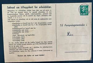 1942 Egge Norway Postal Stationery Parcel Receipt Card cover To Lier