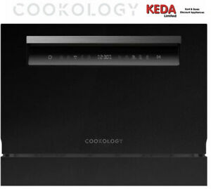 Graded Cookology Touch Control Compact 6-Place  Table Top Dishwasher - Black 3