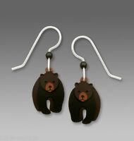 Sienna Sky 3 Part BLACK BEAR Earrings STERLING Silver Ear Wires 1754 +  Box