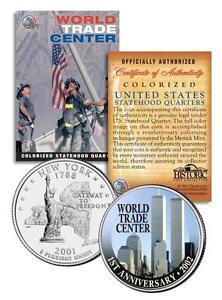 * 1st Anniversary * World Trade Center 9/11 U.S. MINT New York State Quarter