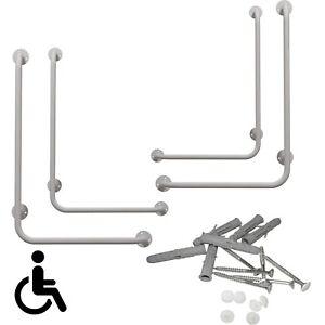 Winkelgriff links/rechts montiert Handlauf Wandhaltegriff Griff Dusch Weiß
