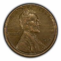 1917-D 1c Lincoln Wheat Small Cent - Wood Grain Effect - AU Coin - SKU-Y2900